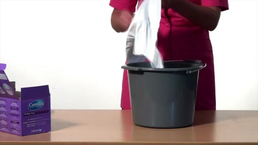CLEANIS CareBag Commode Liner with Super Absorbent Pad product | drugstore.com - image 3 from the video