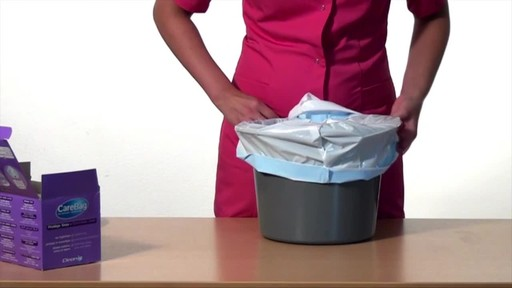CLEANIS CareBag Commode Liner with Super Absorbent Pad product | drugstore.com - image 4 from the video