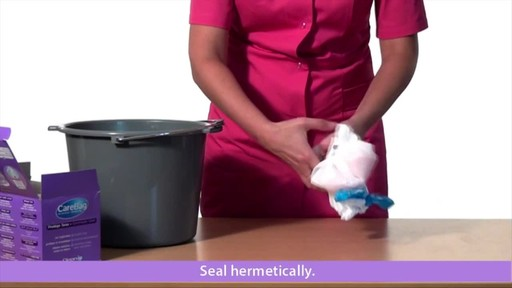 CLEANIS CareBag Commode Liner with Super Absorbent Pad product | drugstore.com - image 9 from the video