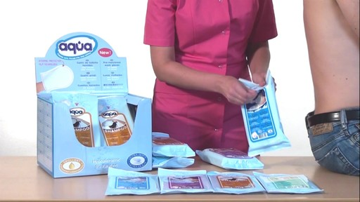 CLEANIS Aqua Pre-Moistened Wash Gloves, Sensitive product | drugstore.com - image 3 from the video
