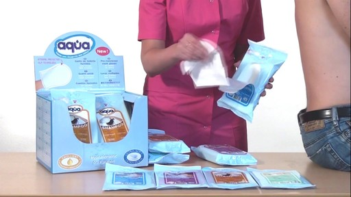 CLEANIS Aqua Pre-Moistened Wash Gloves, Sensitive product | drugstore.com - image 4 from the video