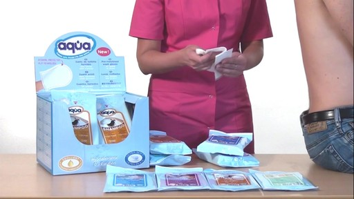 CLEANIS Aqua Pre-Moistened Wash Gloves, Sensitive product | drugstore.com - image 5 from the video