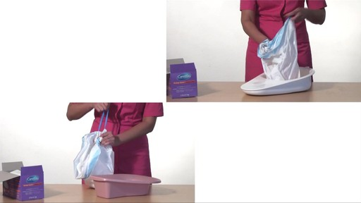 CLEANIS CareBag Bedpan Liner with Super Absorbent Pad product | drugstore.com - image 7 from the video