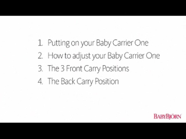 BABYBJORN Baby Carrier One, Cotton Mix, Black, product | drugstore.com - image 1 from the video