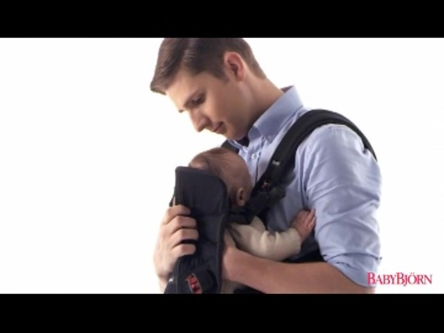 BABYBJORN Baby Carrier One, Cotton Mix, Black, product | drugstore.com - image 10 from the video
