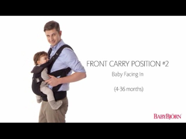 BABYBJORN Baby Carrier One, Cotton Mix, Black, product | drugstore.com - image 5 from the video
