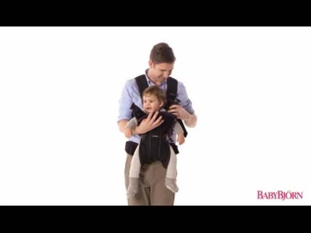 BABYBJORN Baby Carrier One, Cotton Mix, Black, product | drugstore.com - image 7 from the video