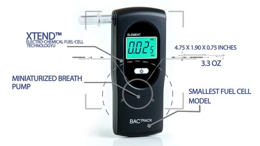 BACtrack Element Breathalyzer product | drugstore.com - image 7 from the video