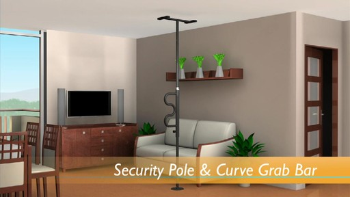 Stander Security Pole & Curve Grab Bar product | drugstore.com - image 2 from the video