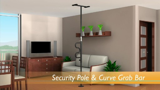 Stander Security Pole & Curve Grab Bar product | drugstore.com - image 3 from the video