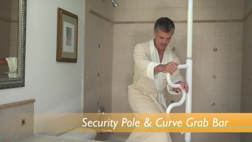 Stander Security Pole & Curve Grab Bar product | drugstore.com - image 6 from the video