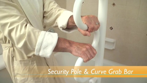 Stander Security Pole & Curve Grab Bar product | drugstore.com - image 8 from the video