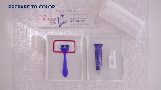 Clairol Nice n' Easy Root Touch-up how to | drugstore.com - image 2 from the video