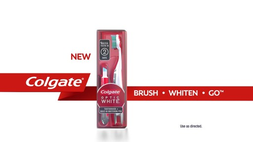 Colgate Optic White Toothbrush   Whitening Pen product | drugstore.com - image 10 from the video