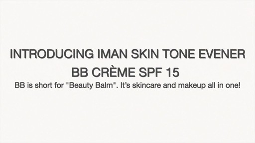 IMAN Skin Tone Evener BB Cream SPF 15 product | drugstore.com - image 7 from the video