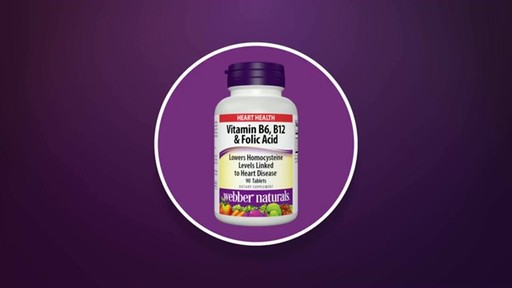 Webber Naturals Vitamin B6, B12 & Folic Acid product | drugstore.com - image 5 from the video