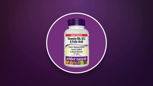 Webber Naturals Vitamin B6, B12 & Folic Acid product | drugstore.com - image 6 from the video