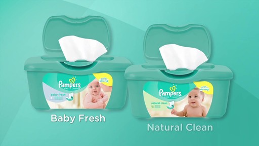 Pampers Baby Fresh & Natural Clean Wipes | drugstore.com - image 9 from the video