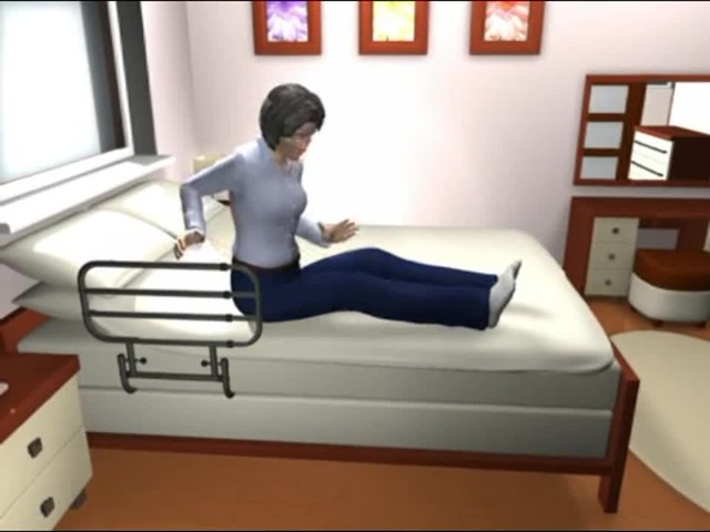 Standers EZ Adjust Bed Rail - image 4 from the video