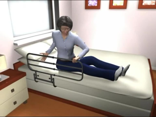 Standers EZ Adjust Bed Rail - image 5 from the video