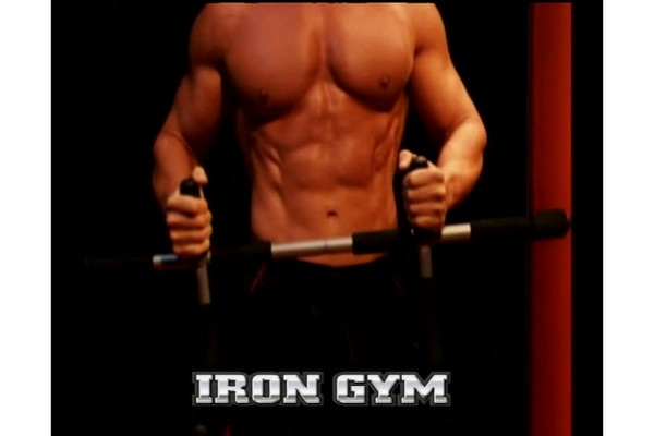 iron gym total upper body workout bar instructions