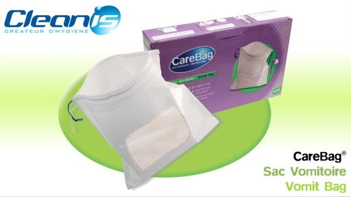 CLEANIS CareBag Vomit Bag with Super Absorbent Pad product | drugstore.com - image 1 from the video