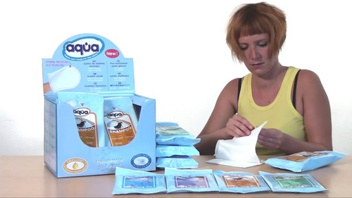 CLEANIS Aqua Pre-Moistened Shampoo Gloves product | drugstore.com - image 4 from the video