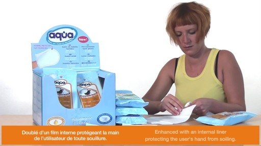 CLEANIS Aqua Pre-Moistened Shampoo Gloves product | drugstore.com - image 5 from the video