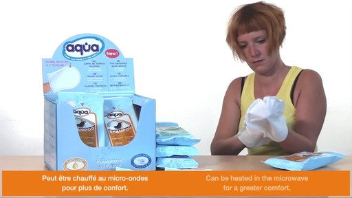 CLEANIS Aqua Pre-Moistened Shampoo Gloves product | drugstore.com - image 6 from the video