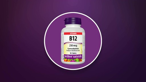 Webber Naturals Vitamin B12 Quick Dissolve Tablets product | drugstore.com - image 3 from the video