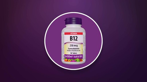 Webber Naturals Vitamin B12 Quick Dissolve Tablets product | drugstore.com - image 7 from the video