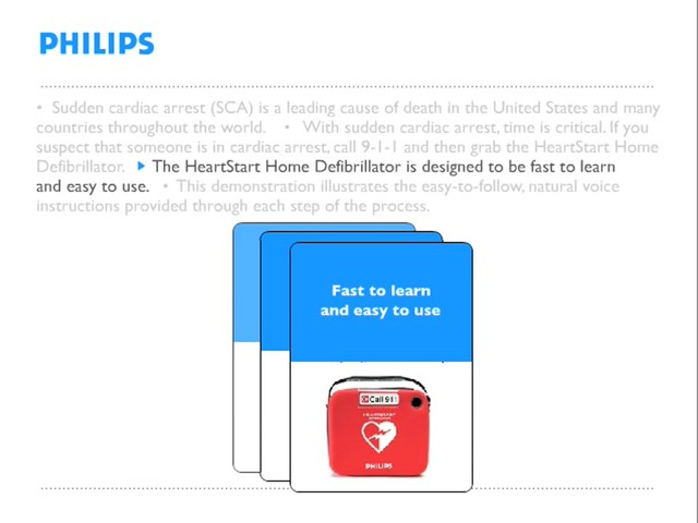 Philips HeartStart Home Defibrillator Demonstration - image 1 from the video