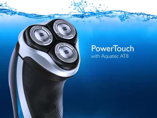 Norelco Powertouch Cordless Razor with Aquatec, Model AT810 product | drugstore.com - image 10 from the video