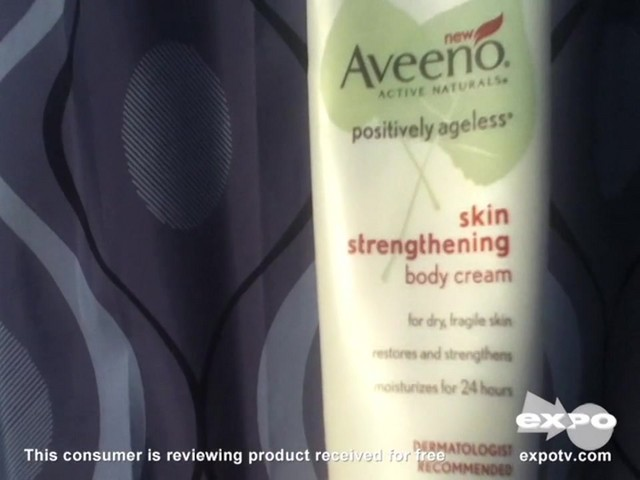 Aveeno Positively Ageless Skin Strengthening Body Cream - image 1 from the video