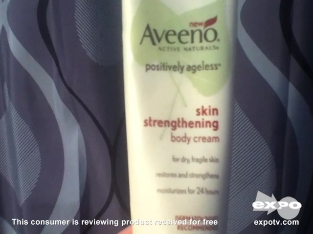 Aveeno Positively Ageless Skin Strengthening Body Cream - image 3 from the video