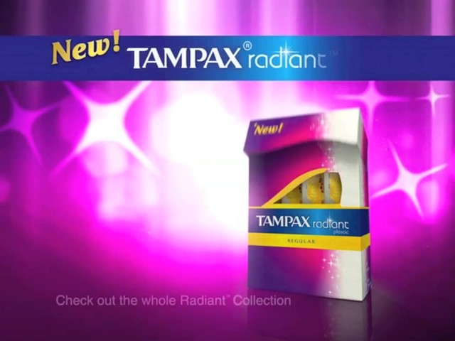 Tampax Radiant Plastic Tampons products | drugstore.com - image 10 from the video