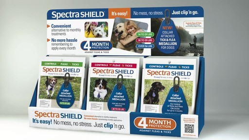 Spectra Shield Collar Attached Medallion Dog Flea & Tick Control - image 1 from the video