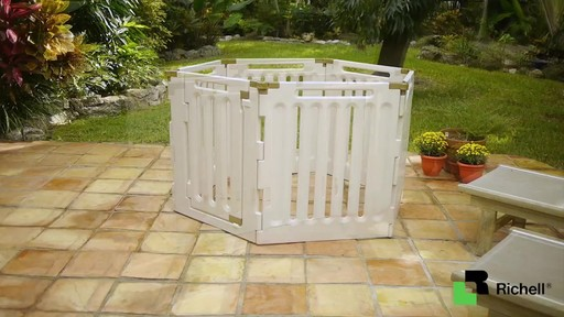 Richell Convertible Indoor Outdoor Playpen - image 8 from the video