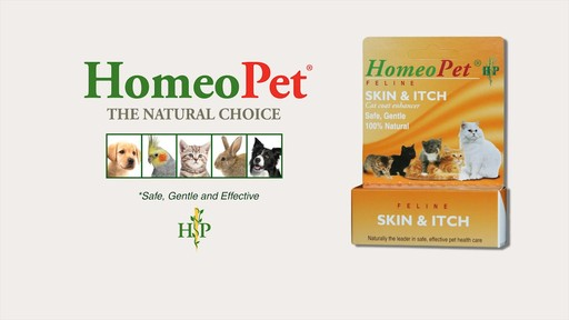 HomeoPet Feline Skin & Itch Natual Cat Coat Enhancer - image 1 from the video