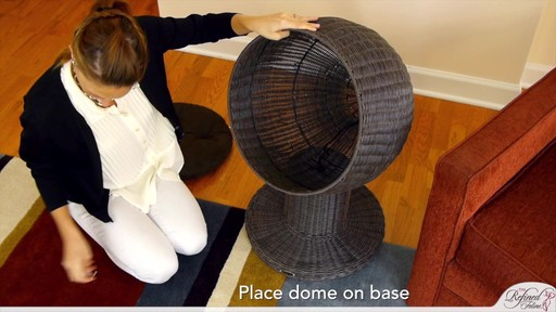 The Refined Feline Kitty Ball Bed in Espresso - image 6 from the video