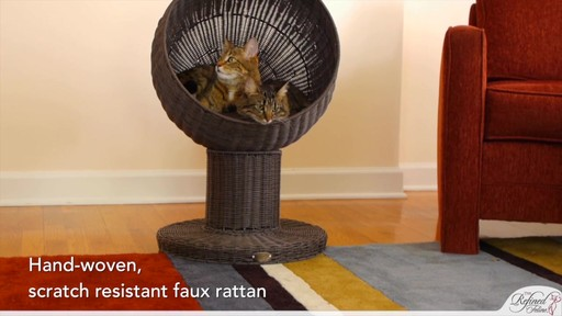 The Refined Feline Kitty Ball Bed in Espresso - image 8 from the video