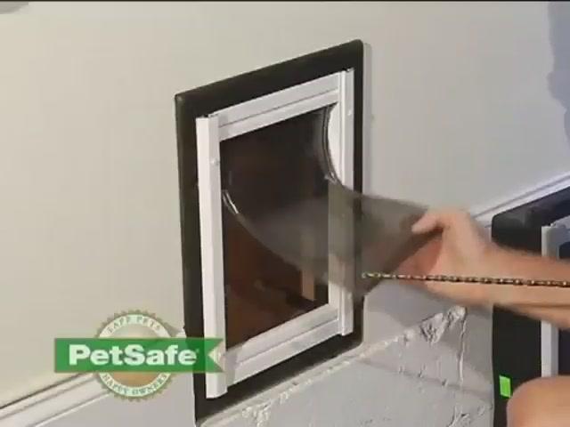 how to install a dog door in an aluminum door 3