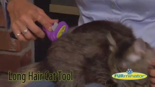 FURminator Long Hair Cat Grooming Tool - image 3 from the video