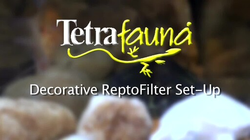 Tetra Decorative ReptoFilter For Frogs, Newts & Turtles Set Up - image 3 from the video