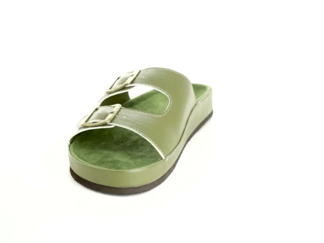 Maxi 2-Buckle Sandal by Comfortview® - image 9 from the video