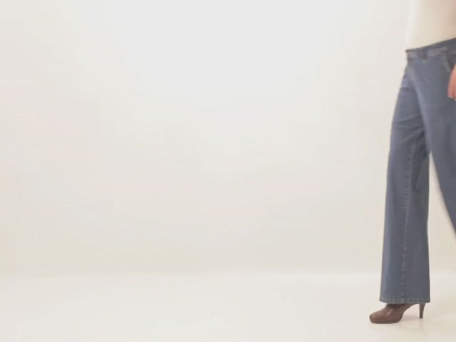 Wide leg stretch jeans - image 1 from the video