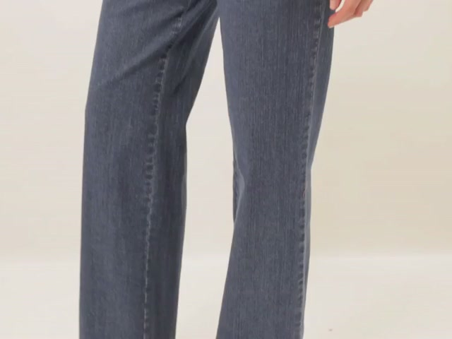 Wide leg stretch jeans - image 3 from the video