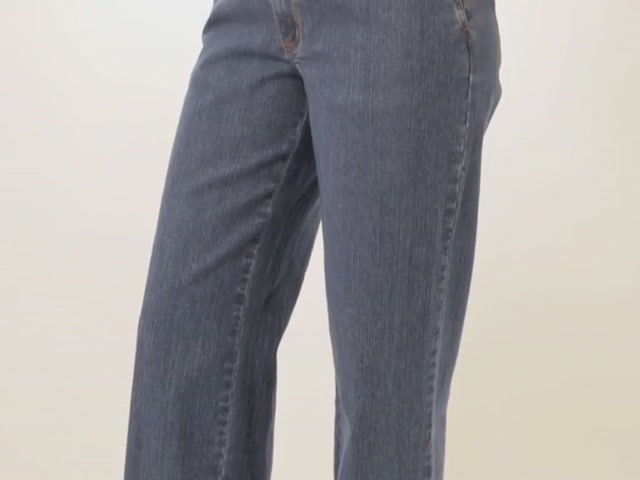 Wide leg stretch jeans - image 4 from the video