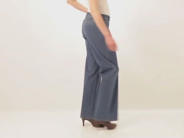 Wide leg stretch jeans - image 7 from the video