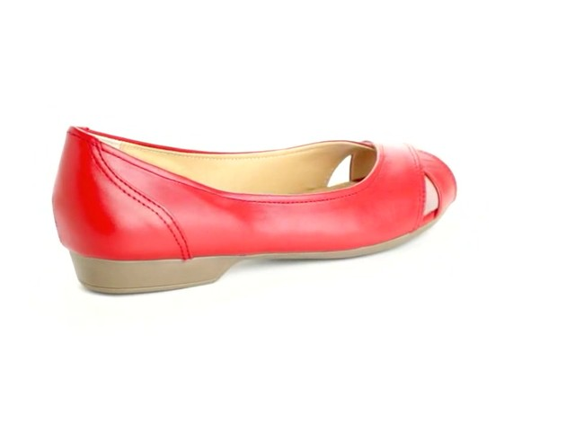 Liah Leather Peep-Toe Flats by Comfortview®  - image 2 from the video